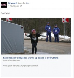 Beyonce's Facebook post