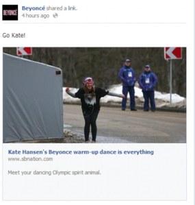 Beyonce's Facebook post