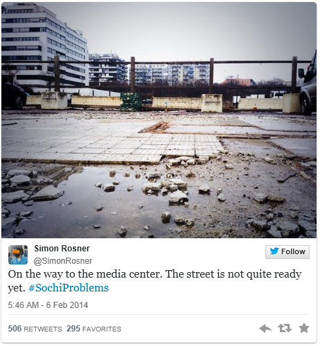 SochiProblems Reveals Real Problems in Sochi Russia The Social